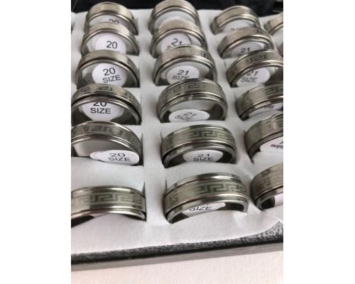 """Кольцо""""нефрмал""""(серебро крутящееся с рисунком(с 19 по 21размер)36шт.в уп."""