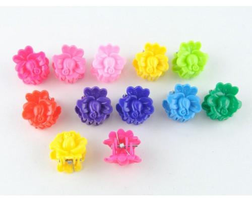 Крабик для волос (маленький) цветочек 100 шт. в уп