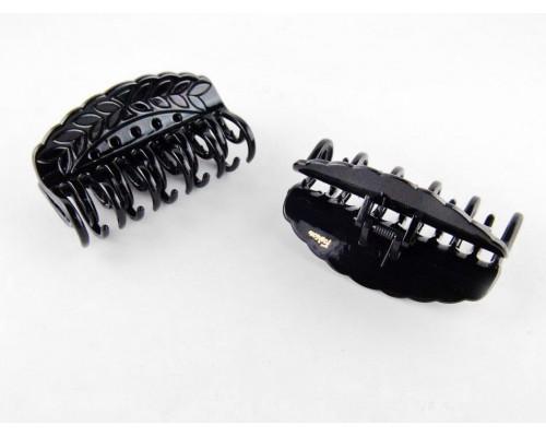 Заколка для волос краб черный лак