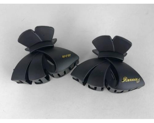 Краб 6 см. черный матовый Fashion