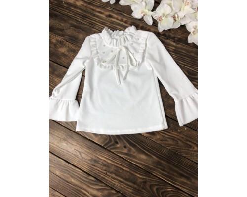 Блузка длинный рукав волан