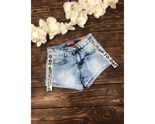 Шорты джинсовые с лампасами