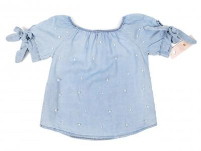 Блузка с жемчугом(джинс)
