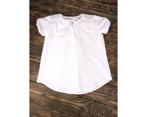 Блузка белая для школы рукав фонарик