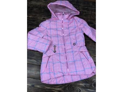 Куртка в клетку с капюшоном(весна/осень)