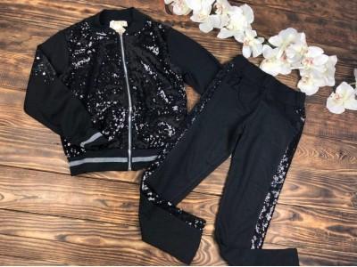 Спортивный костюм для девочки пайетки,штаны и кофта
