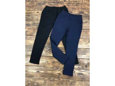 Джегинсы-брюки стрейч школьные (микрофлис)