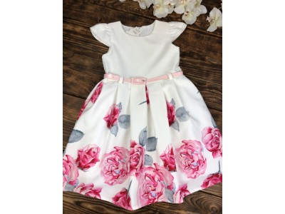 Нарядное платье для девочки короткий рукав