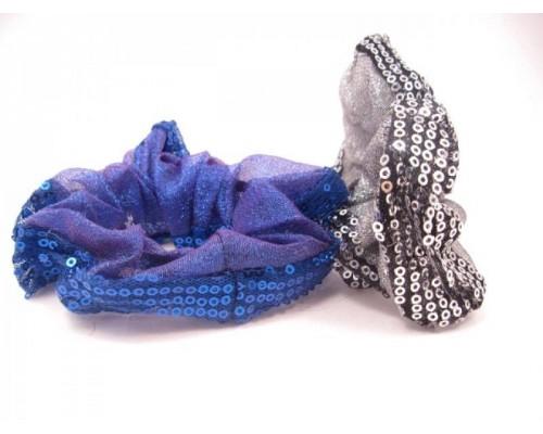 Резинка для волос парчовая (12 штук в упаковке)