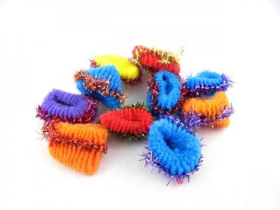 Резинка для волос махровая  малая (100 штук в упаковке)