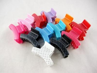 Заколка - крабик для волос маленький (12 штук в упаковке)