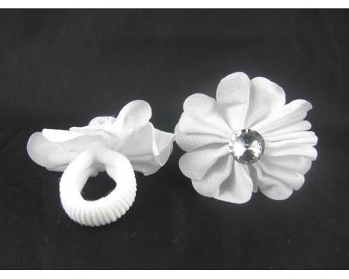 Резинка для волос нейлоновая с украшением (диаметр - 2,5 см) (20 штук в упаковке)