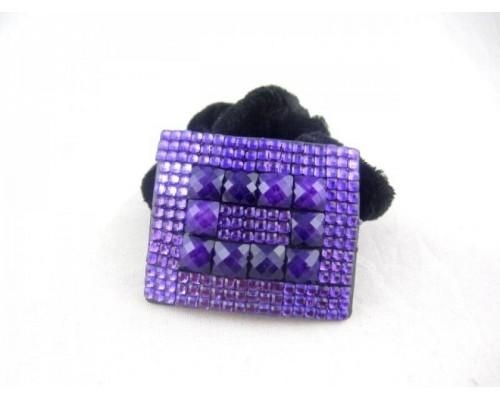 Резинка для волос велюровая с украшением (12 штук в упаковке)