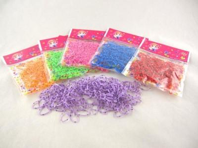 Резинка для волос силиконовая (12 пакетиков *180 штук  в упаковке)