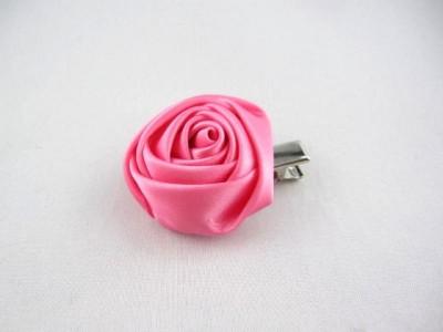 "Уточка мал.(4см.)металл.""розовый атласн.бутон""(бел.розов.мал.)(лента=10шт.)"